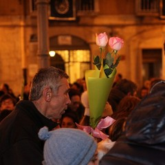 Omaggio floreale all'Immacolata: piazza della Libertà