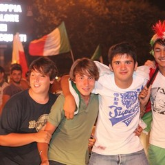 Trani festeggia l'Italia in finale gli europei 201
