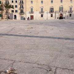 Piazza Quercia dopo la manifestazione di antiquariato