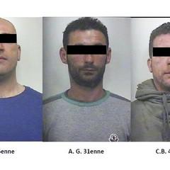Le foto degli arrestati