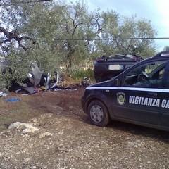 Scoperte due auto rubate nelle campagne di Trani