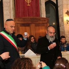 Accensione della Channukkià alla Sinagoga Scolanova di Trani