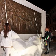 Inaugurazione bassorilievo degli Statuti Marittimi in piazza Quercia
