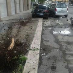Incidente stradale su via Falcone a Trani
