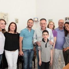 Nicola Nacca nella sede dell'Unione ciechi di Trani
