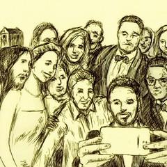 Dardo, selfie a gogo