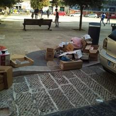 Bidoni dinanzi agli scivoli dei disabili, la protesta di Gennaro Palmieri