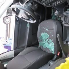 La foto del vetro rotto