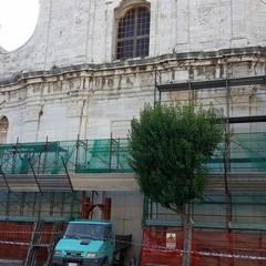 Nuova impalcatura per la facciata di san Domenico