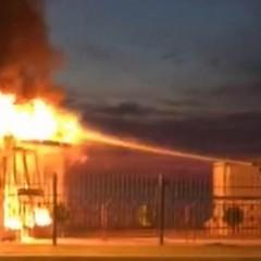 Incendio giostra Villa Comunale