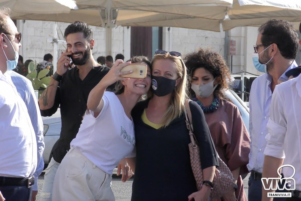 Giorgia Meloni a Trani