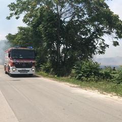 Incendio via Andria