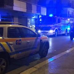 Incendio in via Andria