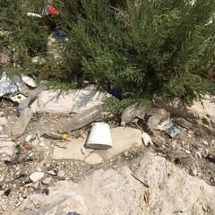 Due tranesi ripuliscono le spiagge della Vittoria e Sant'Antonio