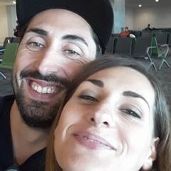 Isabella e Vincenzo prima della partenza per Lomkok