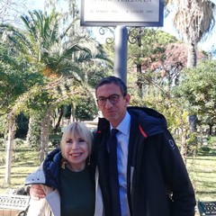 Laura Escalada Piazzolla nella Villa comunale