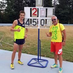 Francesco Bove campione regionale di salto con l'asta