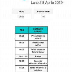 Intercultural Cafè, programma