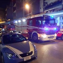 Incendio in via Pozzo Piano