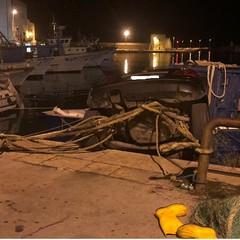 Auto in acqua nel Porto di Trani