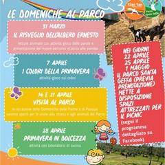 Locandina eventi Parco Santa Geffa