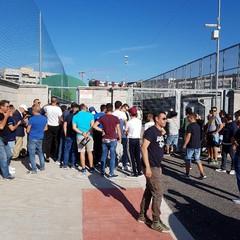 Protesta tifosi a Barletta