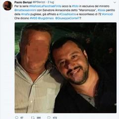 Matteo Salvini e Salvatore Annacondia