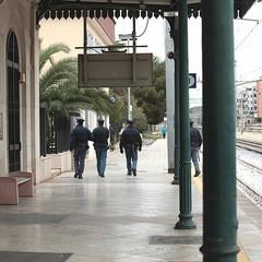La stazione di Trani com'era prima dei lavori