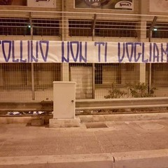 Striscione ultras vs Zinfollino