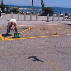 Parcheggio fai da te a Colonna