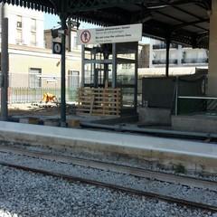 Lavori alla stazione di Trani