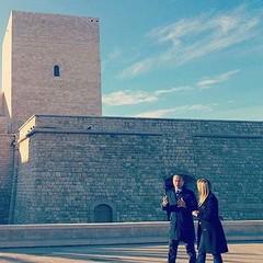 Le riprese al Castello Svevo di Trani