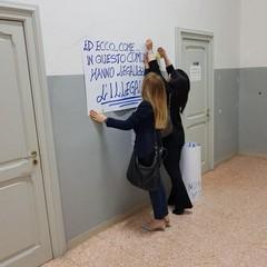 Protesta al Comune
