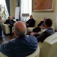 Monsignor D'Ascenzo in visita a Palazzo di Città