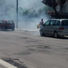 Fumo dal cofano di un'auto: fondamentale l'aiuto dei passanti