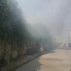 Incendio in via Monte d'Alba