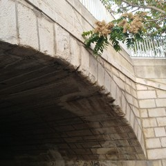 Caduta di frammenti di pietra da Ponte Romano