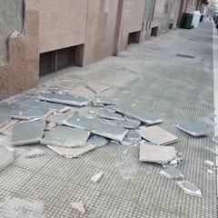 Danni in città a causa del vento