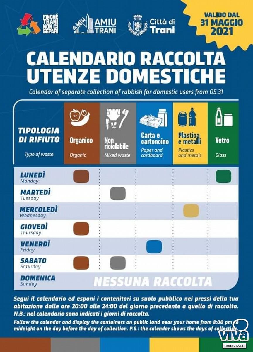 Calendario Amiu