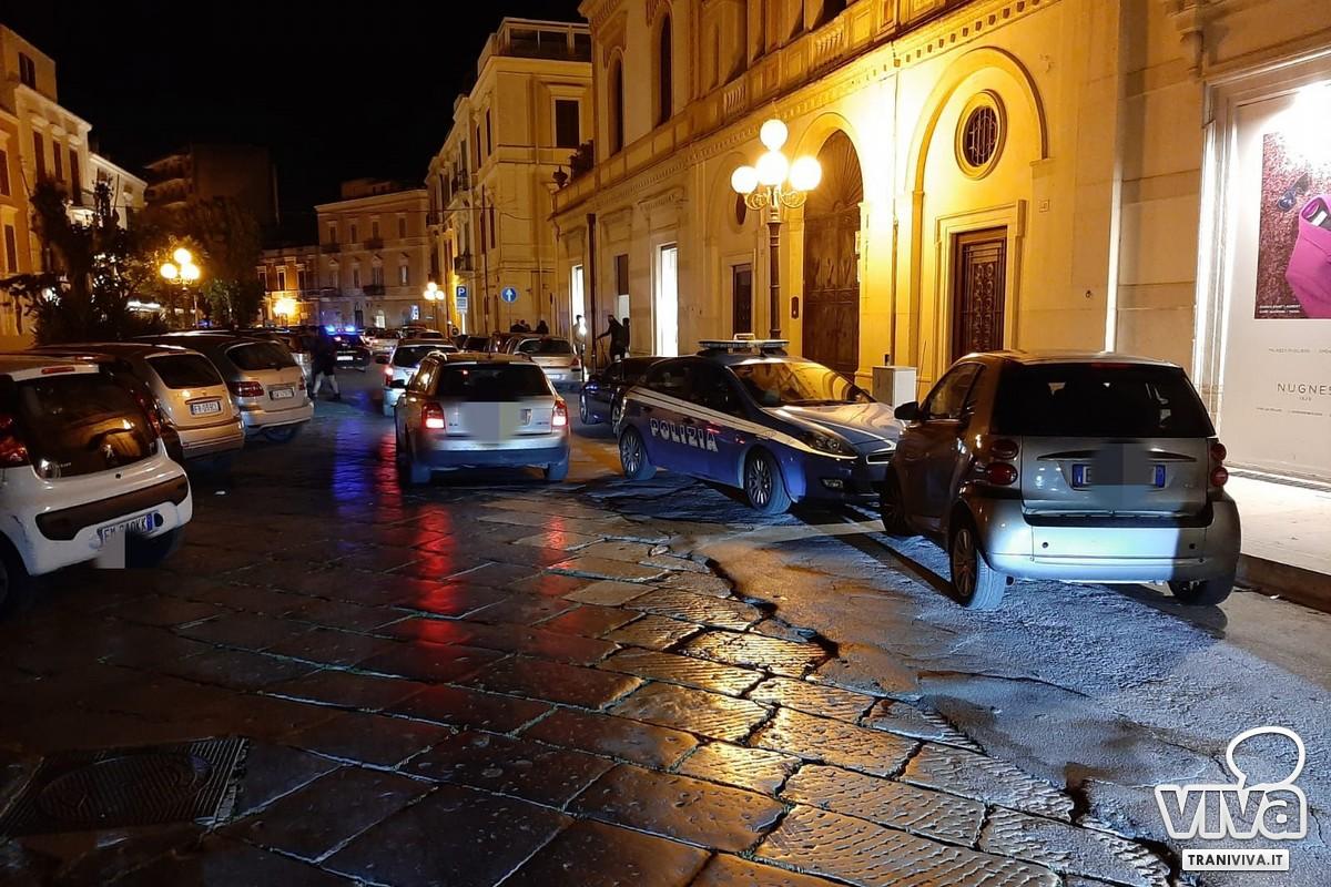Polizia in via Lagalante