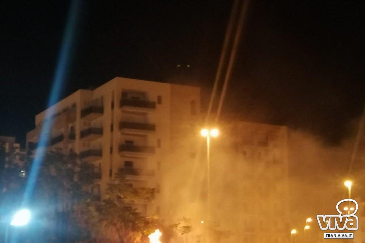 Sterpaglie in fiamme