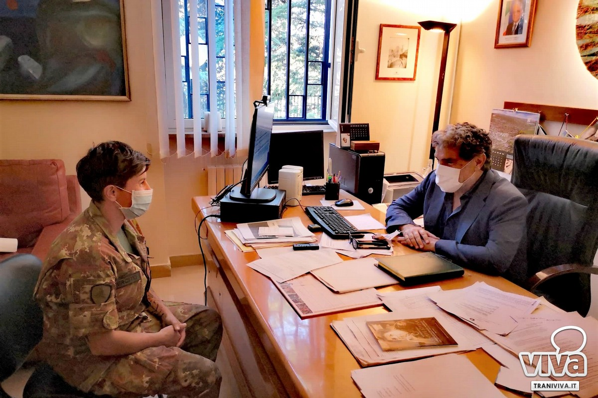 Annarita Garofalo accolta dal sindaco di Ruvo