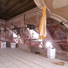 Chiesa di Santa Chiara durante i lavori di restauro
