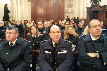 Polizia locale alla messa di San Sebastiano