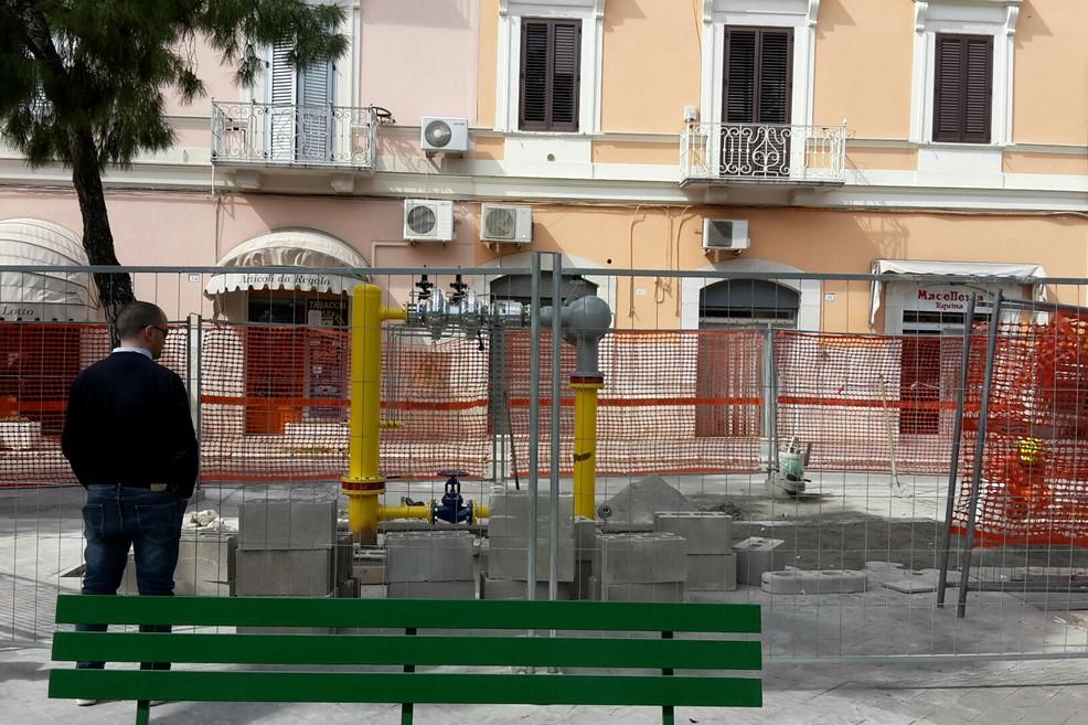 impianto gas piazza Gradenico (Sant'Agostino)