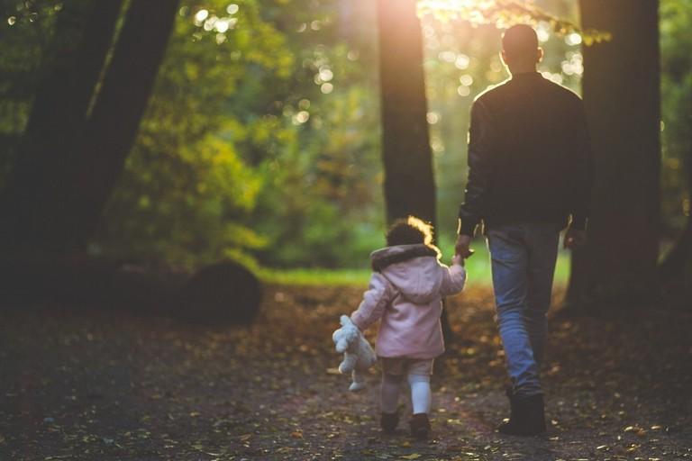 passeggiata genitore-figli