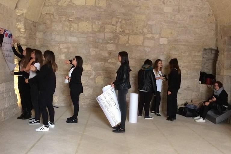 Studenti al Castello Svevo