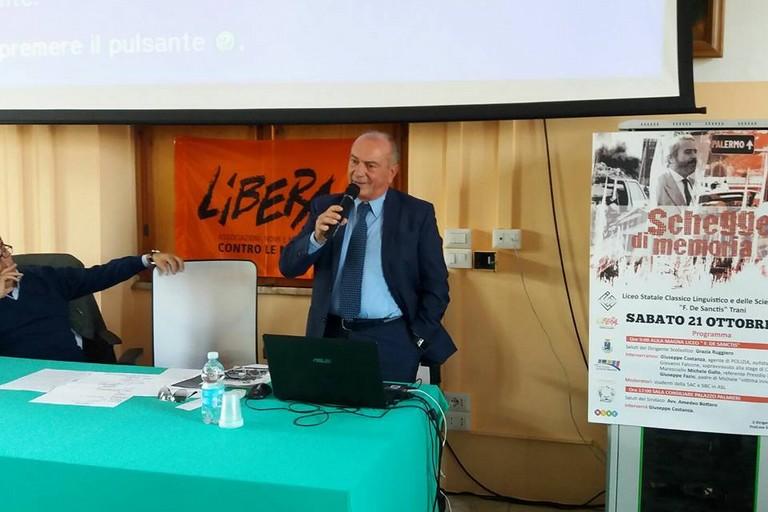 Al Liceo De Sanctis l'autista del giudice Falcone, Giuseppe Costanza