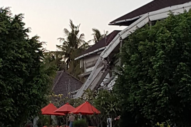 Resort  distrutto a Gili, Lombkok