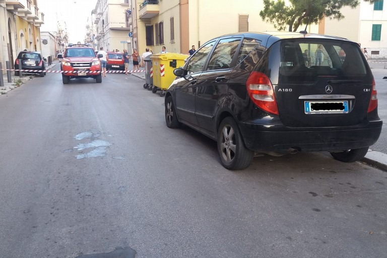Fuga di gas in via Amedeo
